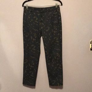 NWOT Avery Stretch Ankle Pants In Fun Pattern